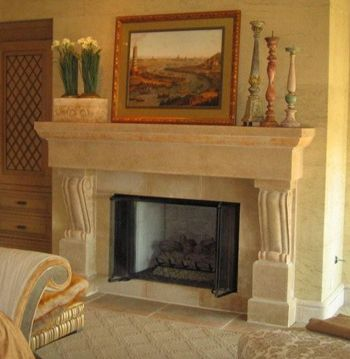 1000 images about fireplace cast iron stove on pinterest mantels wood insert and stove - Concrete fireplace mantel shelf ...