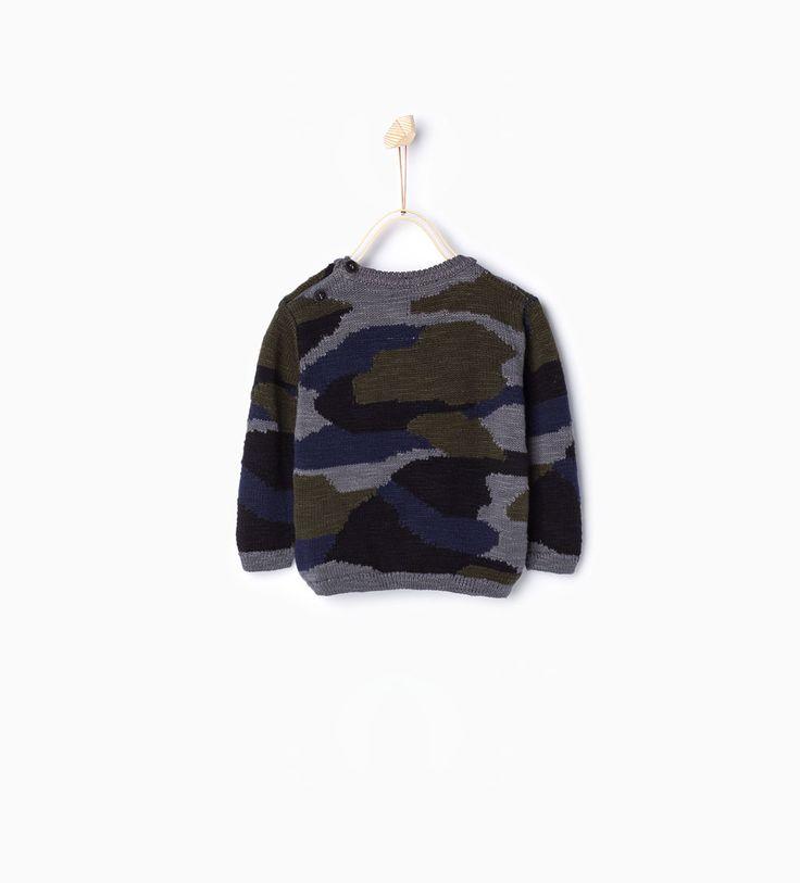 Tricot trui camouflage-Jassen en truien-Baby jongen | 3-36 maanden-KINDEREN | ZARA België