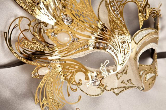 Luxury Masquerade Masks - Elegant Venetian Masks - Filigree Metal Mask