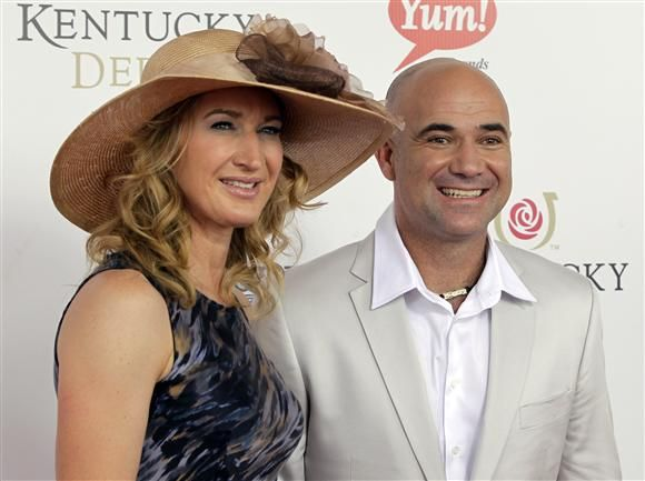 kentucky derby - steffi graff with andre agassi