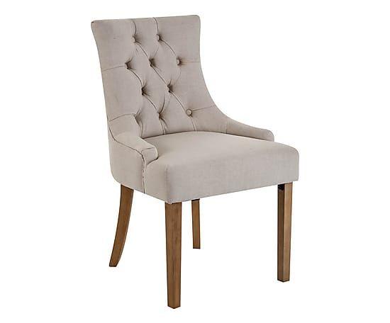 Set van 2 stoelen Ken, taupe/naturel, H 90 cm