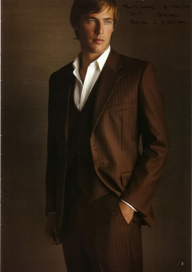 Dark chocolate brown pin stripe suit | Type 1 Guy Dress Your Truth
