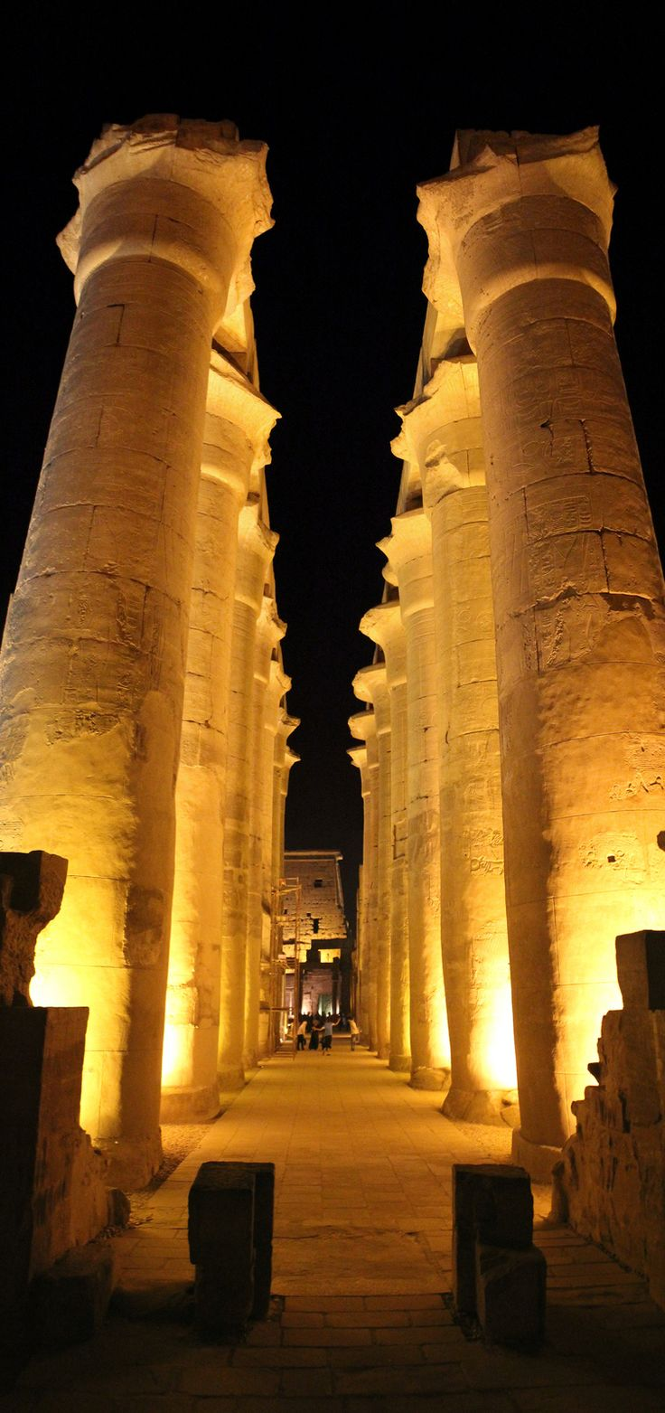 Luxor Temple. Egypt  Treated to an opera within this temple.  Aida was spectacular in this setting