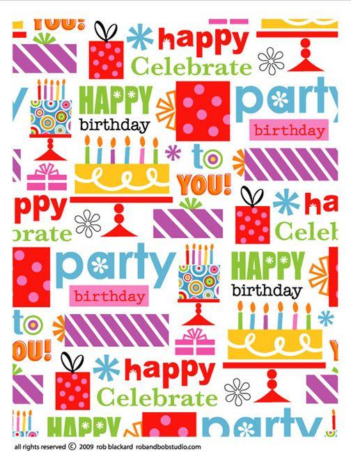 Birthday Wrap Pattern