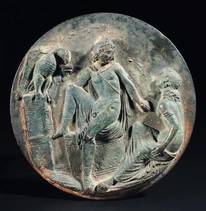 Ganymède, le nouvel échanson des dieux. Bronze. Art Grec, IVe siècle av. J.-C. Photo Pierre Bergé & associés