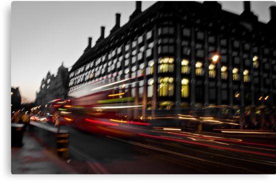 """Westminster Lights"" Canvas Prints #decoration #decoración #gifts #london  Size: 45,7 cms x 29,9 cms Price: €74,88"