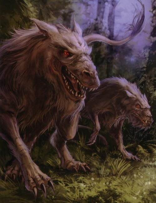 The vornskr was a canine beast that could hunt using the Force. The vornskr, native to the planet Myrkr, were a wild, vicious canine species that had the unusual ability to sense the Force. This ability evolved to help them hunt ysalamiri, but a side effect caused them to think that Force-sensitives were their favorite prey, including Jedi in their appetite.