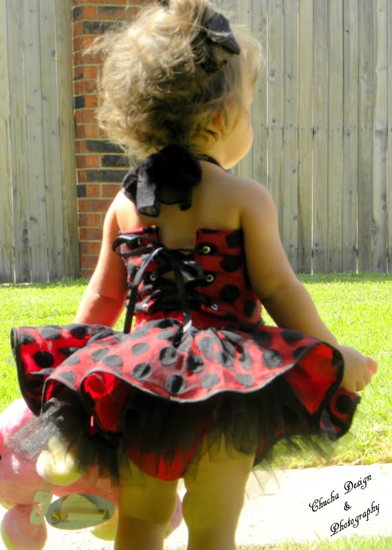 Lady bug first birthday dress.. Love love love this in pink and green
