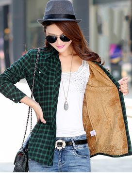 Furry On The Inside Plaid Shirt (5 Colors)