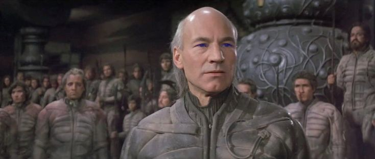 Sir Patrick Stewart (but then ONLY Patrick Stewart), as Gurney Halleck, in David Lynch's 1984 film adaptation of Frank Herbert's Dune