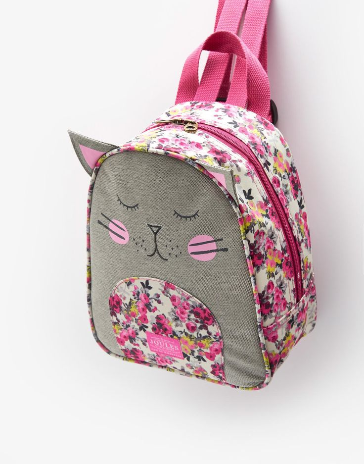 Buddie Cat Character Rucksack , Size One Size | Joules UK