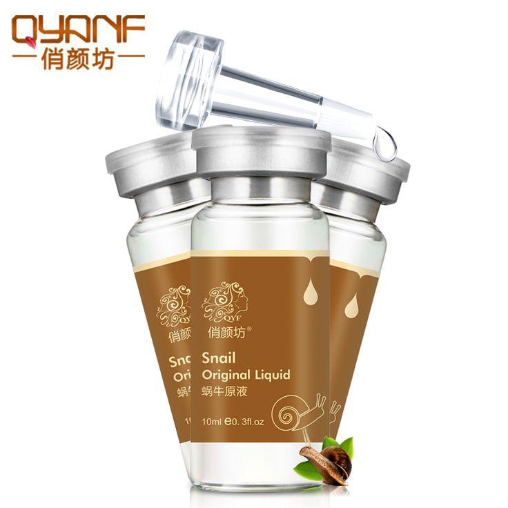 Qyf marca caracol líquido original reducir los poros hidratante para blanquear la eliminación de sangre roja cara suero anti-envejecimiento cuidado de la piel crema