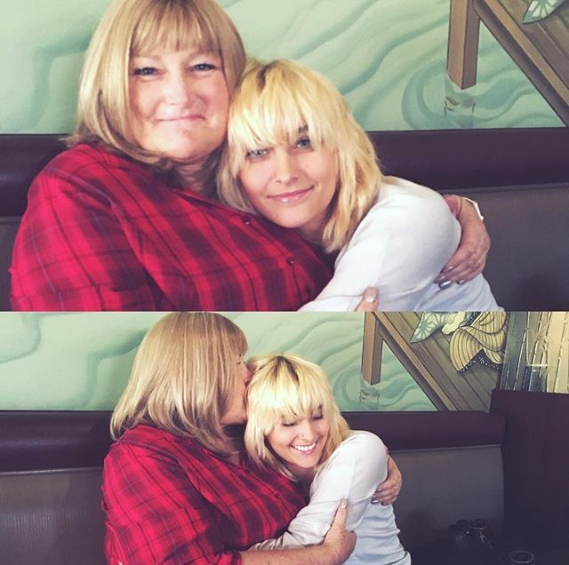 Paris Jackson (age 18) with the her mother Debbie Rowe in November 2016.