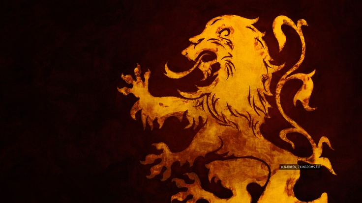 A song of ice and fire: family crest of Lannister-Hear me Roar