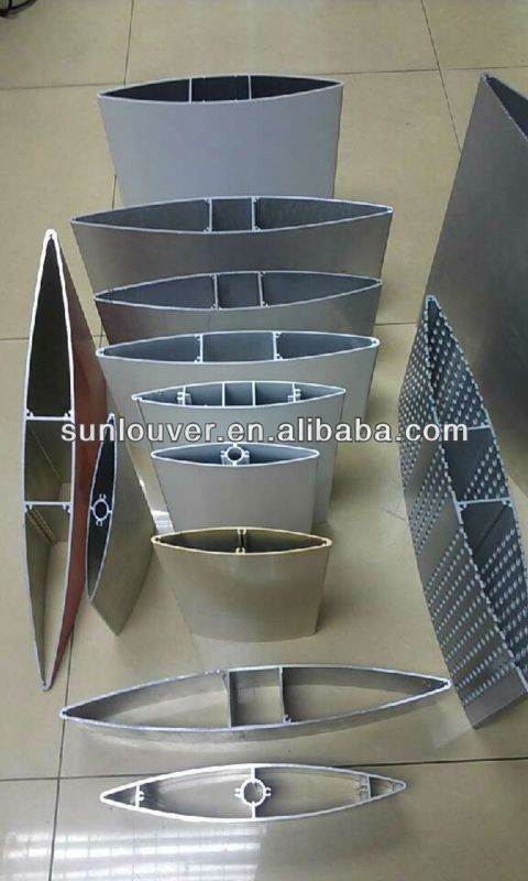 Aluminium profile louver /shutter for decorations of MTR station.