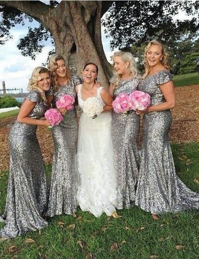 Mermaid Bridesmaid Dress,Sequined Bridesmaid Dress,http://hilldressing.storenvy.com/products/17474522-long-gray-bridesmaid-dress-mermaid-bridesmaid-dress-sequined-bridesmaid-dres