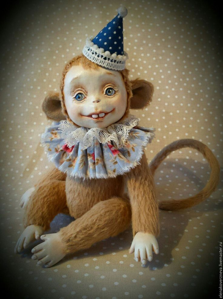 Купить Обезьянка тедди-долл светлая - символ года 2016 - в подарочной коробке - комбинированный, обезьянка