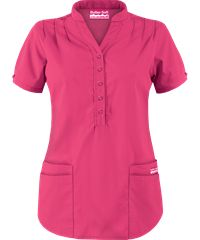 Butter-Soft Scrubs by UA - Mandarin Collar 4-Pocket Top, Style# UAT278C #scrubs, #fashion, #fuchsia, #nurses