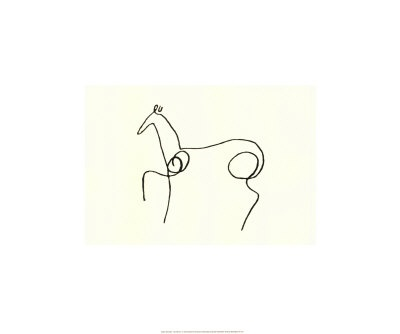 """Picasso, """"The horse"""""""