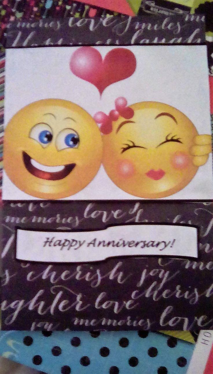 Homemade anniversary card.