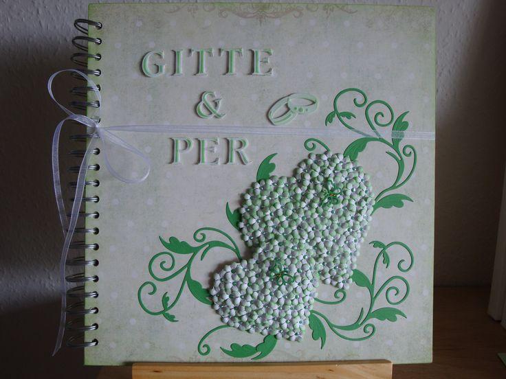(Made by Susanne Elfrom Nguyen) Gæstebog / fottoalbum til Gitte & Per´s bryllup