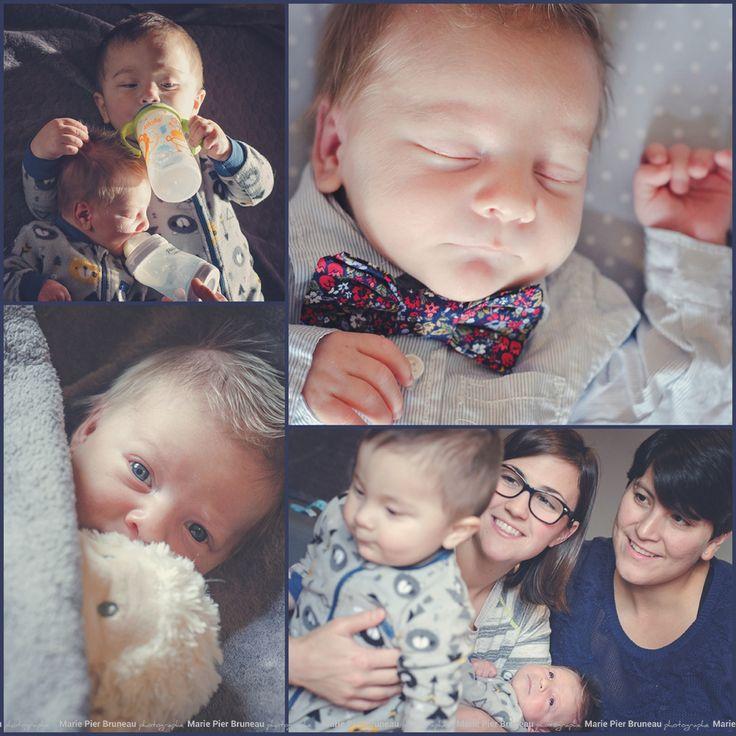 newborn photography.  Two brothers. Two mothers. Love. Family. bow tie. milk. beautiful.  Séance photo nouveau né. deux frères deux mères. Amour. Famille. Noeud papillon. Lait. Beauté