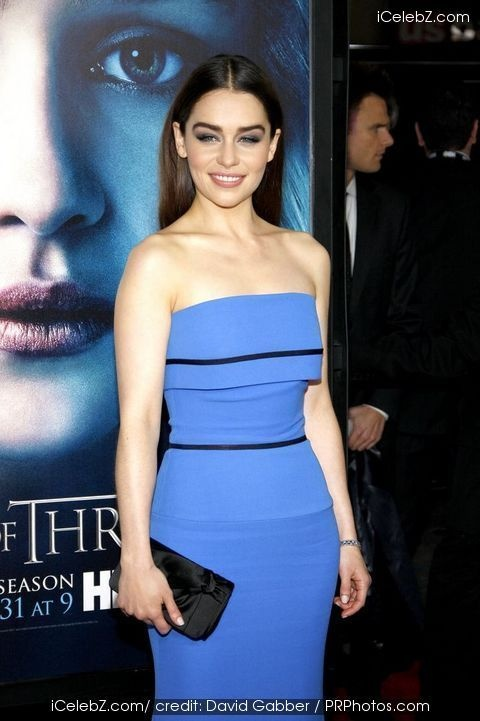 HBOu2019s u201cGame of Thronesu201d Third Season Premiere - Arrivals. Emilia Clarke see more events at http://www.icelebz.com/events/hbo_s_game_of_thrones_third_season_premiere_-_arrivals/