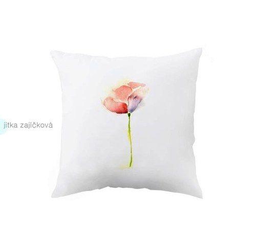 Květina. Originální dekorační polštář.