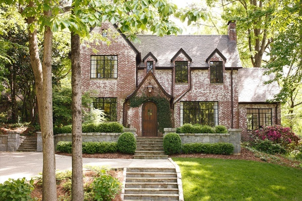 brickModern House Design, Dreams Home, Home Interiors, Living Room Design, Interiors Design, Dreams House, Curb Appeal, Bricks House, Design Home