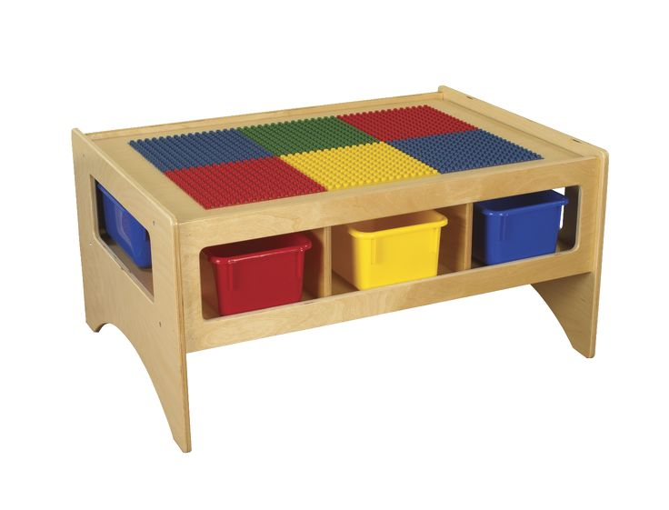 Childcraft Toddler Multi Purpose Play Table With 6 Assorted Color Trays