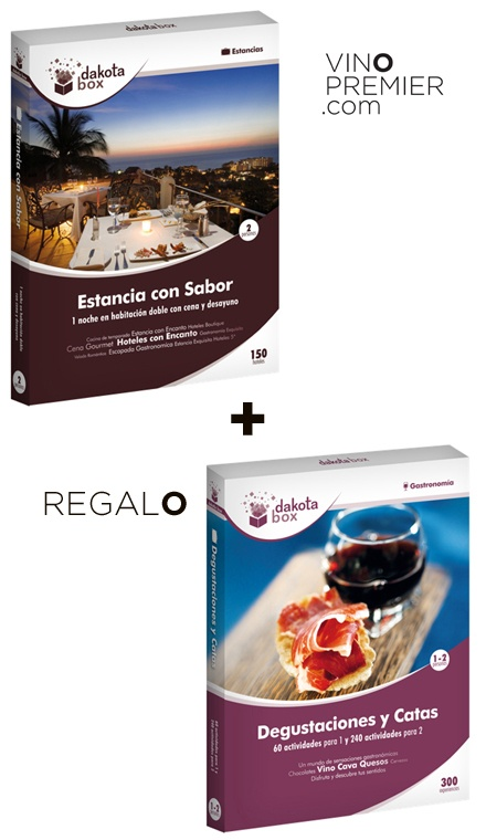 DAKOTABOX SAN VALENTÍN:ESTANCIA CON SABOR+REGALO  Especial San Valentín - Viajes y Catas  129.90€    $174.23  Precio con I.V.A. Incluido