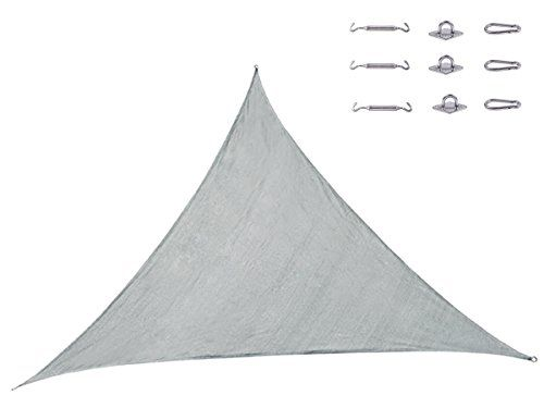 Cool Area Triangle 11 Feet 5 Inches Durable Sun Shade Sail with Stainless Steel Hardware Kit, Cheap On Sale, UV Block Fabric Sail Perfect for Outdoor Patio Garden Swimming Pool (3.6m X 3.6m X 3.6m) in Color Slivery Cool Area http://www.amazon.com/dp/B00J2JYN2G/ref=cm_sw_r_pi_dp_CSMQtb1T8MWG2GJS