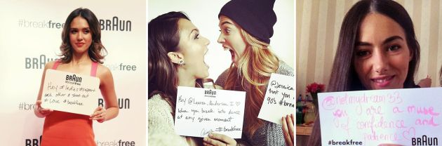 Jessica Alba, Braun, #selfie, #breakfree, www.mauvert.com
