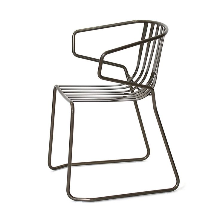 metal chair, indoor and outdoor chair, chair with armrests Garden, Gardens, Bar Valentina