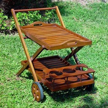 International Caravan - Tivoli Outdoor Wooden Tea Cart