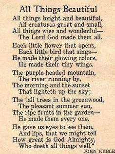 all things bright and beautiful by cecil alexander