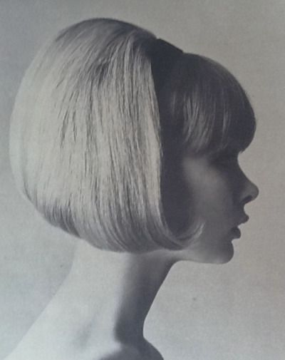 1960s bouffant bobbed hair fashion.                                                                                                                                                                                 More