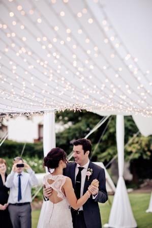 #vintagewedding #weddingdancefloor #firstdance #weddinglighting #romanticlighting #bohemianwedding #weddingconcepts -Photography by: Gavin Casey