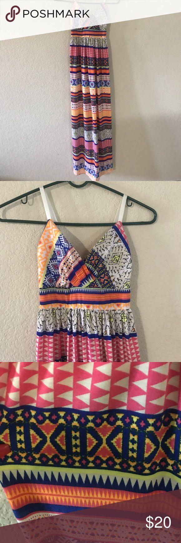 tribal maxi dress mexican inspired tribal dress (NEVER WORN) Derek Heart Dresses Maxi