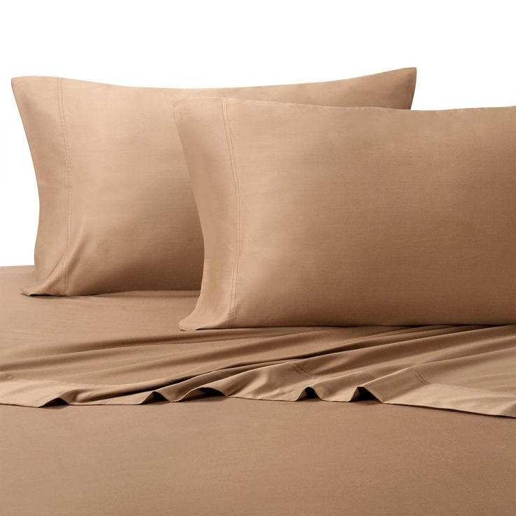 """Silky and Soft Bamboo Sheets, 100% Viscose from Bamboo Sheet Set, Hypo-Allergenic, 18"""" Pockets, Taupe, 5 Piece Split King (Adjustable Bed) Size Deep Pocket Sheet Set"""