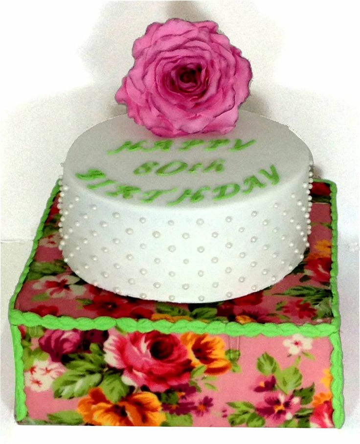 Vintage Rose Cake Like us on  www.facebook.com/melianndesigns