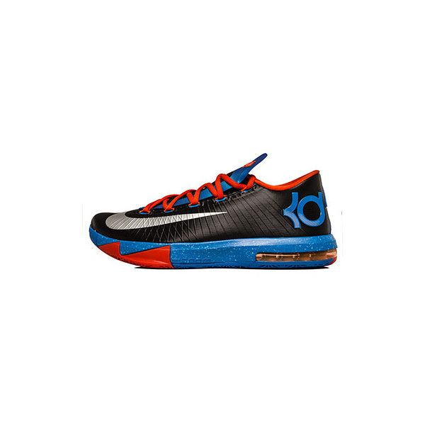 NIKE KD VI Black/Metallic Silver ❤ liked on Polyvore featuring shoes, sneakers, jordans, kd, nike, silver metallic shoes, nike footwear, nike shoes and black shoes