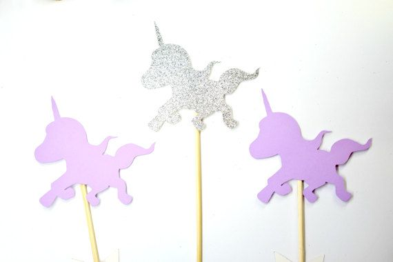 Unicorn cake topper unicorn cupcake topper by VivisArtStudio