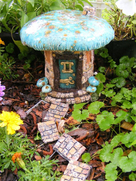 Mushroom Fairy House Gnome Garden Mushroom With Stained Glass