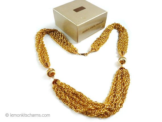 Vintage Avon Golden Chains Necklace Jewelry by LemonKitscharms