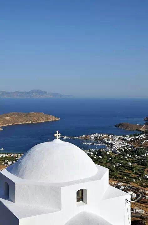 View of Livardi Port, Serifos