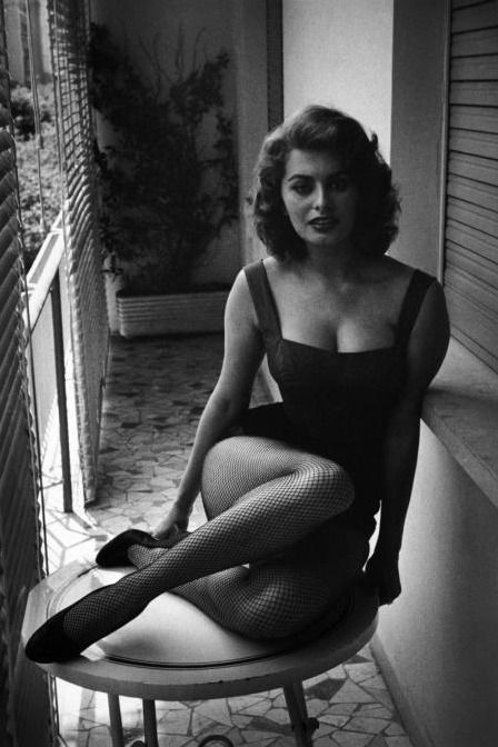 Sophia Loren, Rome, Italy 1955 photographed by David 'Chim' Seymour