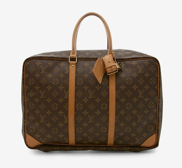 Louis Vuitton Dark Brown And Tan Luggage SALE