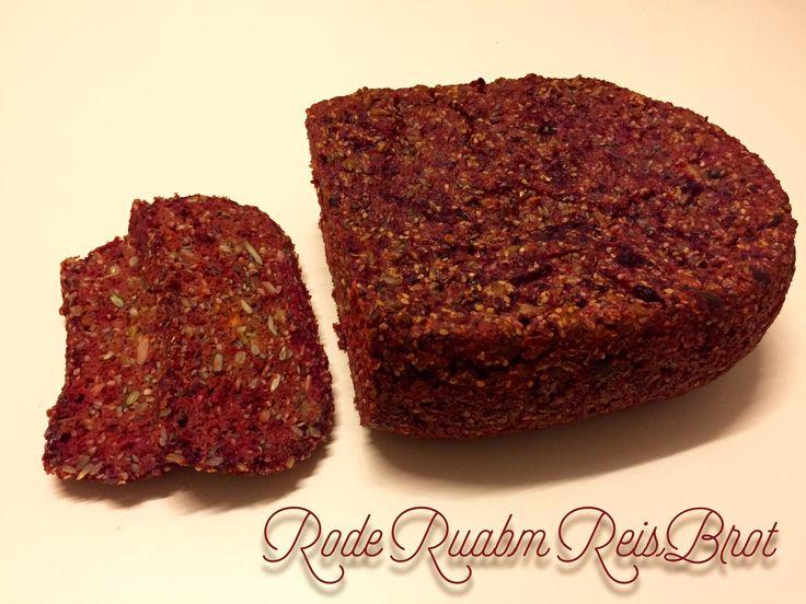Rote Rüben Reis Brot