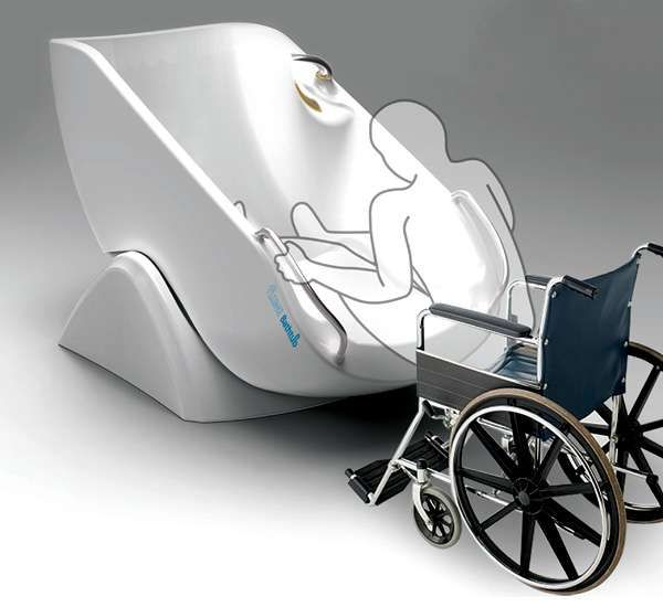 Wheelchair Accessible Showers - The Flume Bathtub is Made for the Physically Challenged (GALLERY)